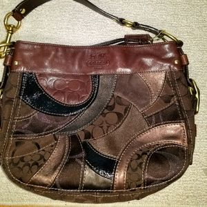 Used  COACH Zoe Mosaic Patchwork Bag